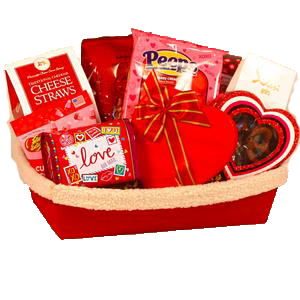 Warm Hearted Wishes Valentine Gift Basket